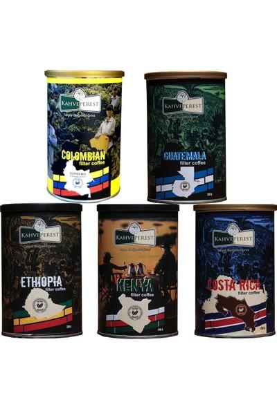 Kahveperest Yöresel Filtre Kahveler 5'li Set 250 gr