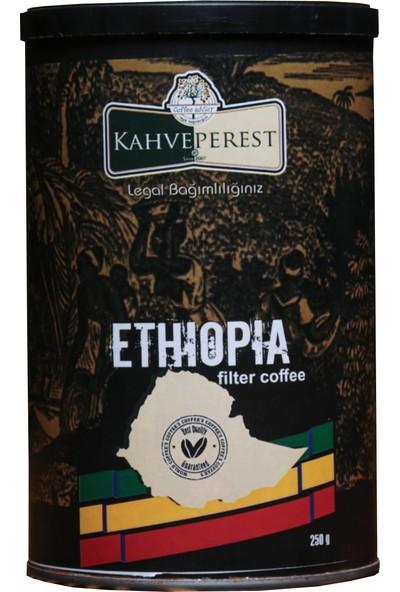 Kahveperest Ethiopia Yöresel Filtre Kahve Teneke Kutu 250 gr