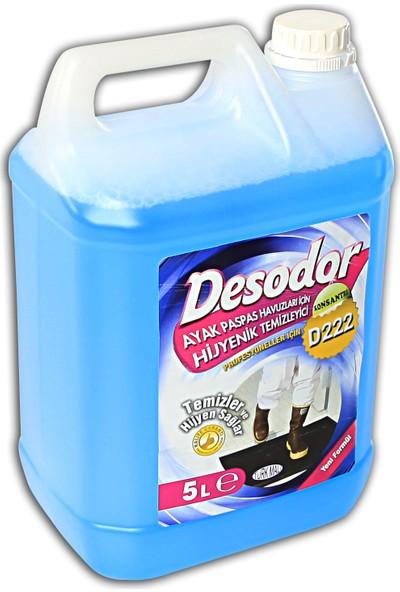 Desodor D222 Ayak Paspas Havuzları Için Hijyenik Temizleyici 5 Lt
