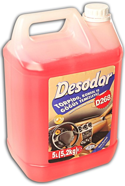 Desodor D268 Torpido, Konsol Temizleyici 5 l