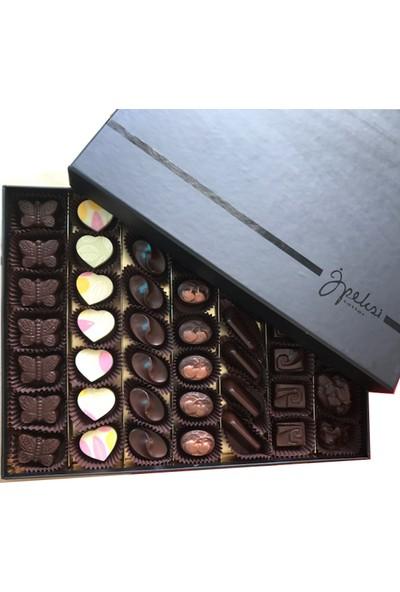 İpeksitatlar Keşfet Büyük Kutu Hediyelik Gurme Çikolata