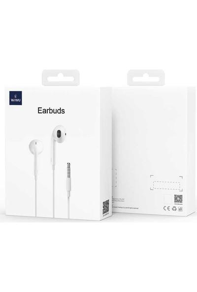 Wiwu EARBUDS-101 3.5mm Jack Girişli Kulaklık Beyaz