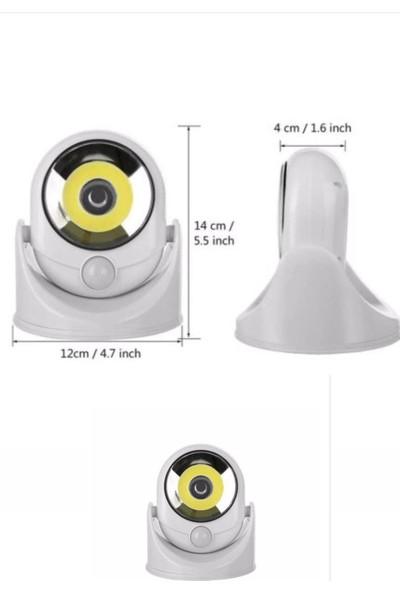 Buffer 360 Derece Dönebilen Sensörlü Akıllı Pilli LED Lamba Aydınlatma