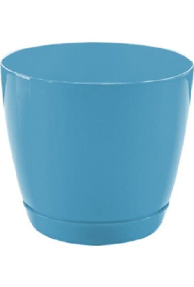 Favilla Floris Saksı Tabaklı 21 cm 4,5 Lt Mavi