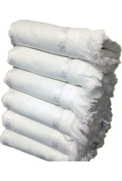 Fiesta Soft Etaminli 6'lı Havlu Kanaviçelik Beyaz 50 x 90 cm
