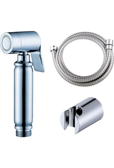 Buffer Spiralli Tabancalı Taharet Musluk Seti Tuvalet Tabancası Başlığı