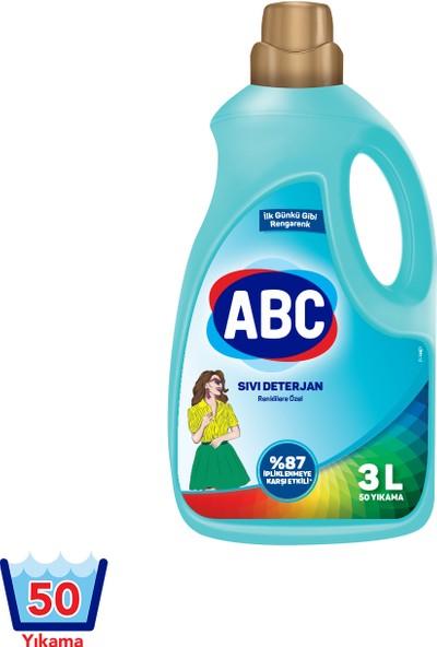 ABC Sıvı Çamaşır Deterjanı Renkliler 3000 ml