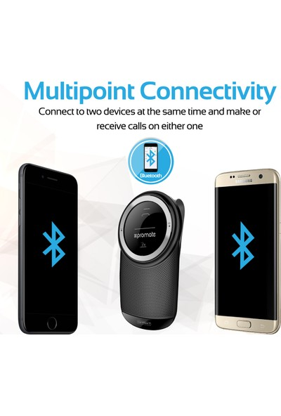 Promate Carmate-7 Bluetooth Araç Kiti Ses Komutlu Telefon Araması Şarjlı