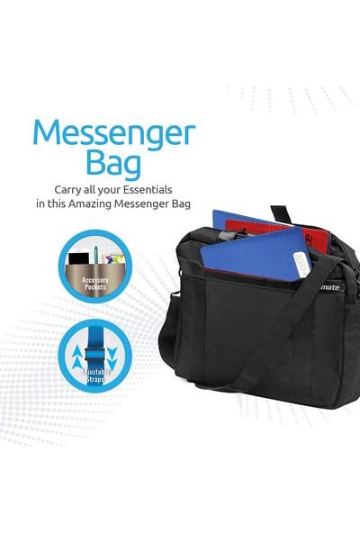 Promate Solo-Mb Notebook Laptop Çantası Messenger Postacı Tip Evrak Bölmeli 15.6 İnç