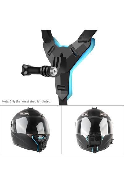 Tıyu Kask Kamera Çene Tutucu Komple Siyah Renk L Siyah
