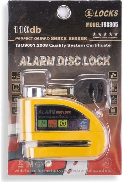 Locks Alarmlı Disk Kilidi Yuksek Ses Celik Gövde Sarı Renk Sarı