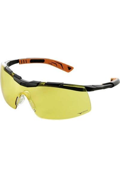 Univet 5x6.03.00.03 Sarı Koruyucu İş Gözlüğü Gözlük