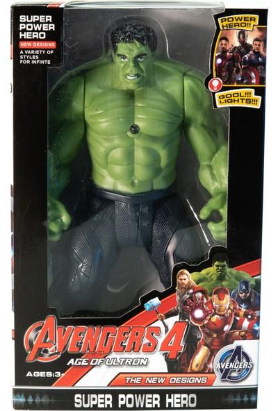 Avengers Işıklı Hareketli Hulk Figür Oyuncak 20 cm