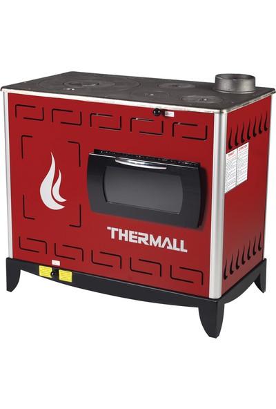 Thermall T-20 KS Kuzine Kovalı Fanlı Kalorifer Sobası (20000 kcalh - 23,2 kW)