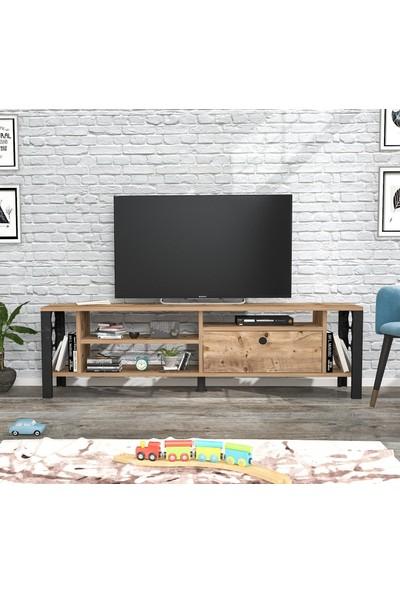 Wood'n Love Hera Tv Ünitesi - Atlantik Çam / Siyah