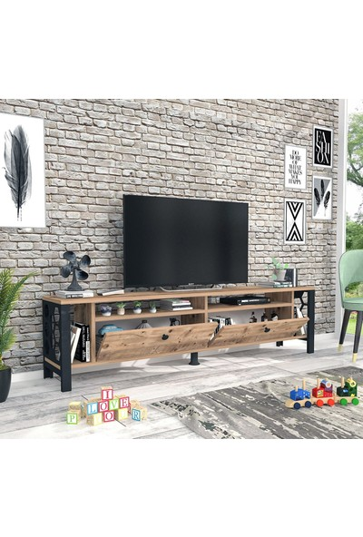 Wood'n Love Luna Tv Ünitesi - Atlantik Çam / Siyah