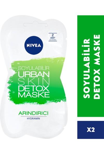 Nivea Urban Skin Detox Soyulabilir Arındırıcı Maske 2x7,5 ml