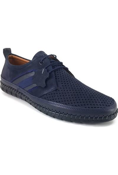 63539 Greyder Günlük Erkek Ayakkabı Lacivert Nubuk