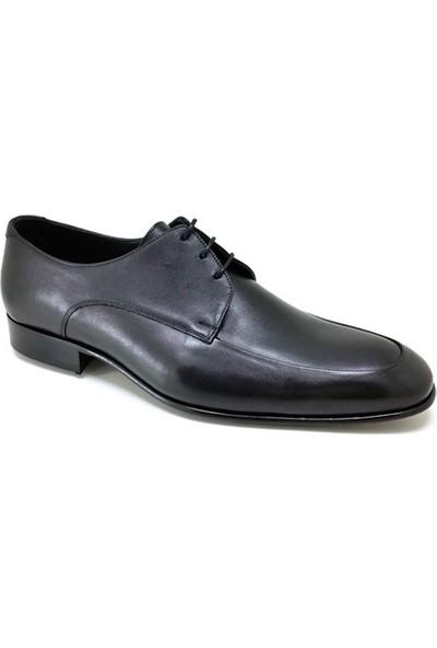439 Oskar Hakiki Kösele Günlük Erkek Ayakkabı Siyah