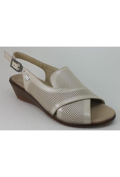1200 Mammamia Günlük Kadın Sandalet Bej