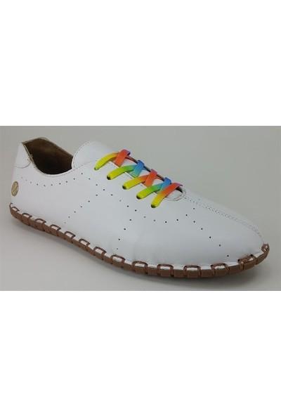 2902 Messimod Günlük Kadın Ayakkabı Beyaz