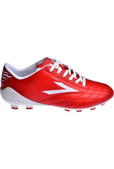 Lig Kembos Erkek Krampon Çim Saha Futbol Ayakkabısı Kırmızı