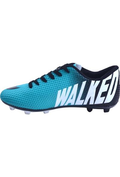 Walked 401 Km Krampon Çim Erkek Futbol Spor Ayakkabı Petrol