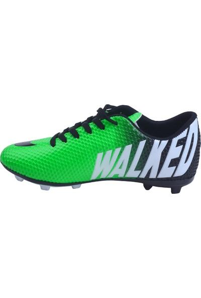 Walked 401 Km Krampon Çim Erkek Futbol Spor Ayakkabı Yeşil