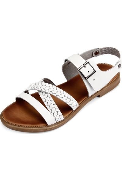 Gön Deri Kadın Sandalet 35128