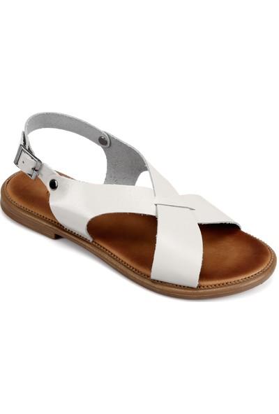 Gön Deri Kadın Sandalet 35136