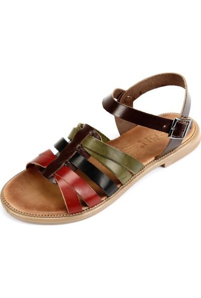 Gön Deri Kadın Sandalet 35526