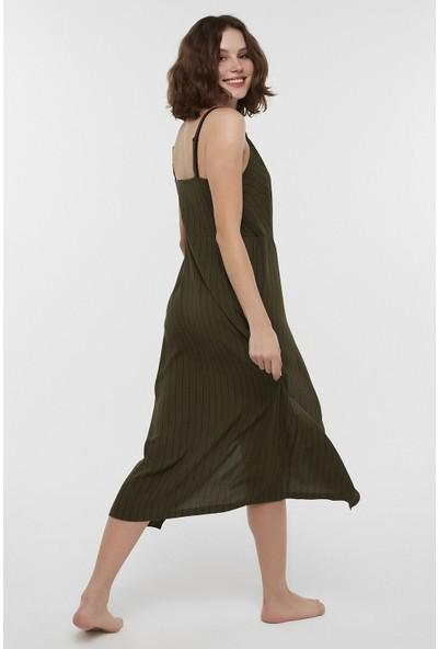 Penti Haki Wrap Elbise