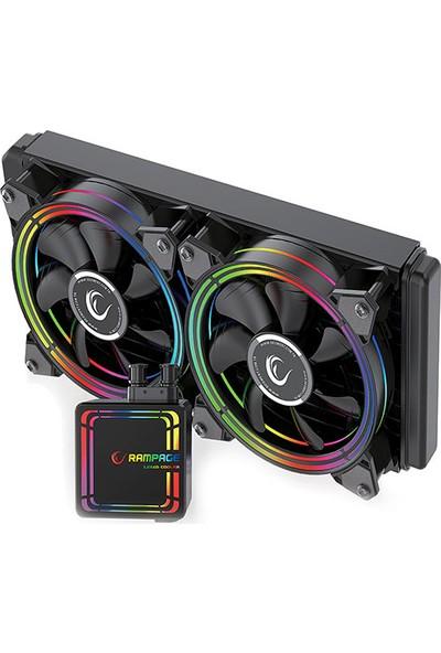 Rampage AQUA240-RGB Çift Fan 120x278x27mm Sıvı Cpu Soğutucu