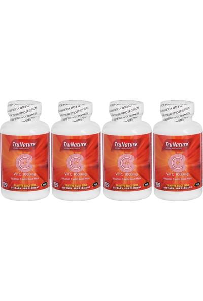 Trunature Vitamin C Kuşburnu Ekstresi 1000 Mg 100 Tablet C Vitamini 4 Kutu