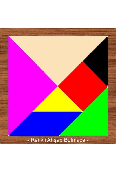 Ahşap Şehri Akıl Zeka Tangram Düşün Bul Renkli Ahşap Bulmaca Oyunu