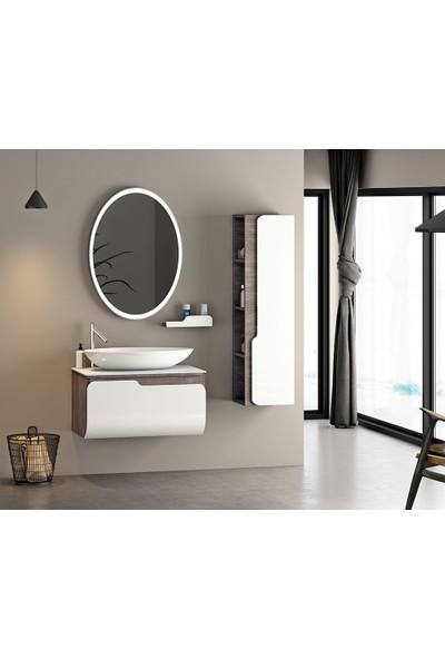 Nplus Kuga 80 cm Banyo Dolabı Berlin Beyazı