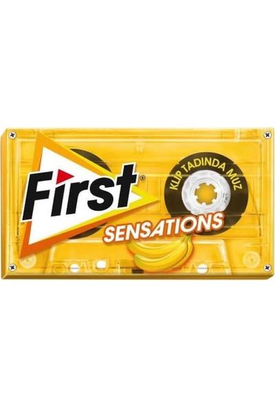 First Sensations Klip Tadında Muz Aromalı Sakız 27 gr 12'li Kutu