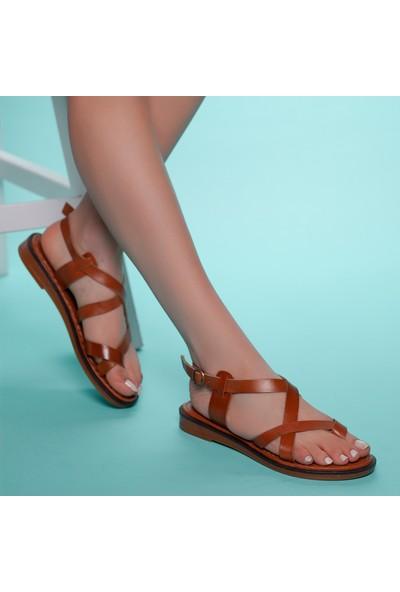 Muggo INFW312 Deri Kadın Sandalet