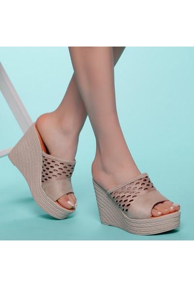 Muggo AYS70 Kadın Topuklu Terlik