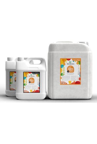 Resinin Slim Extra A + B Ekstra Sararma Dirençli Ultra Şeffaf Epoksi Reçine 30 kg