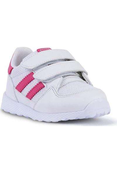 Jump Beyaz Pembe Kız Çocuk Spor Ayakkabı 25325