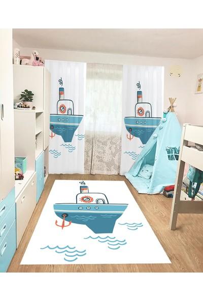 Homessa Gemici HÇİ62 80 x 150 Çocuk Odası Halısı