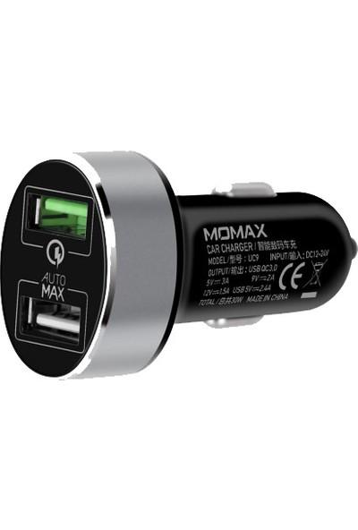 Momax Uc Serisi Çift USB Çıkışı Araç Hızlı Şarj (Yurt Dışından)