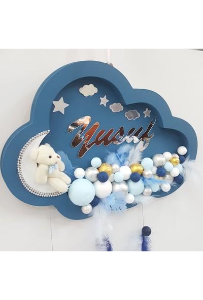 Baby Design Bebek Odası Isme Özel Kapı Süsü Bulut Ayıcıklı Bubble