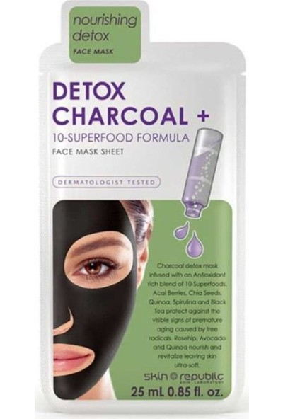Skin Republic Kömür Detoksu Yüz Maskesi 25 ml
