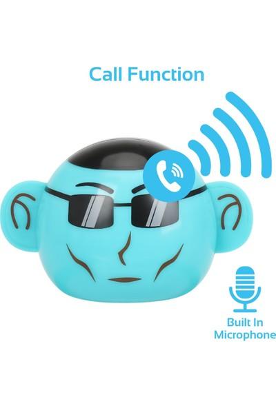 Promate Ape Bluetooth Hoparlör Çocuk Tip Maymun Tema Mikrofonlu 3W Şarjlı