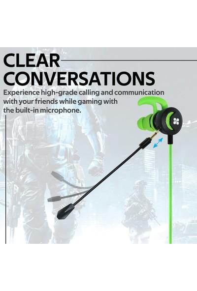 Promate Clink Oyun Kulaklığı Ayrılabilir Mikrofon Gürültü Önleme Özellikli
