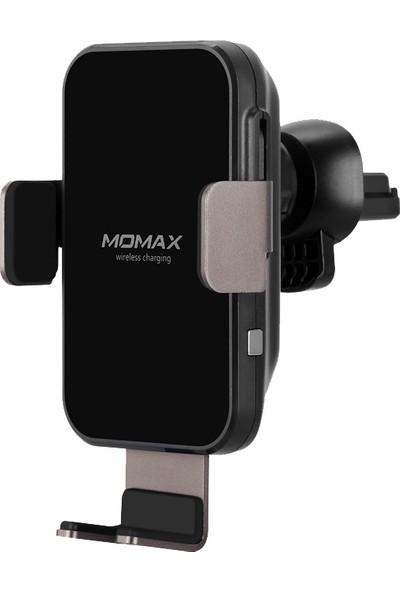 Momax Q Mount Smart Akıllı Indüksiyon Kablosuz Şarj Araç Seti Siyah CM11DH Standı (Yurt Dışından)
