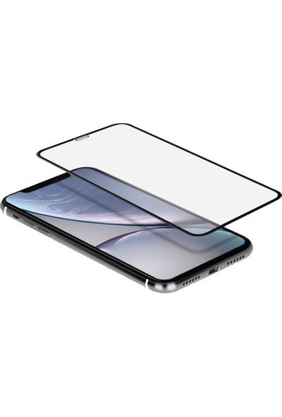 Momax Apple Iphone XR Glass Ekran Koruyucu 3D Full Frame Ekran Koruyucu 0.3 mm Pro