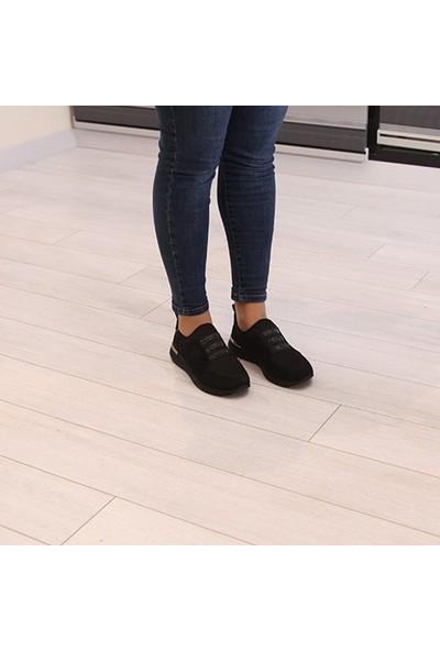 Conforcity Siyah Süet Kadın Spor Ayakkabı